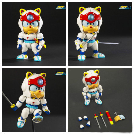 Samurai Pizza Cat Ninja Kung Fu Cat Taro Movable Joint Cutie Action Figure Doll Toys