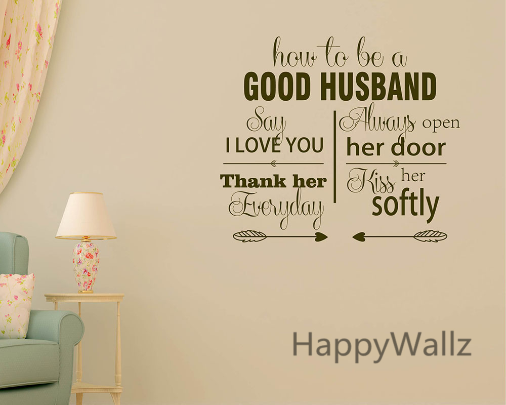 sticker for mobile phone picture more detailed picture about how how to be a good husband love quotes wall stickers decorative diy lovers love lettering custom