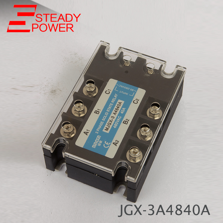 цена на Three phase solid state relay JGX-40DA 40A actually 3-32V DC TO 24-380V /90-480V AC SSR series 40DA 40AA