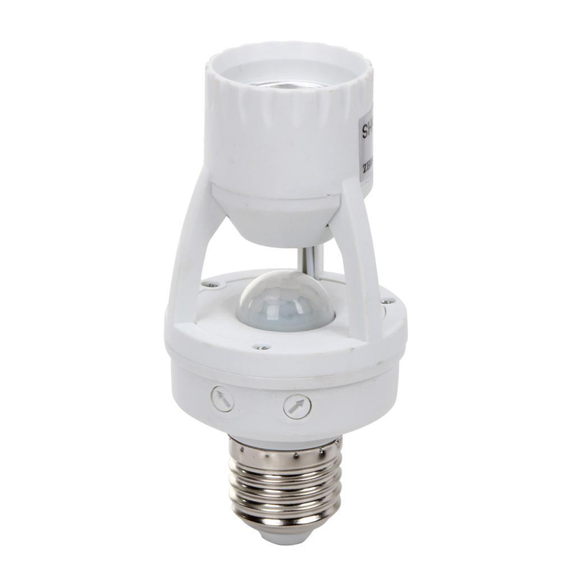 110/220V Infrared PIR Motion Sensor LED Light Lamp Bulb Holder Socket Switch Light Accessory litake led bulb lamp energy saving motion activated light bulb e27 9w pir infrared motion sensor light pir stairs night light