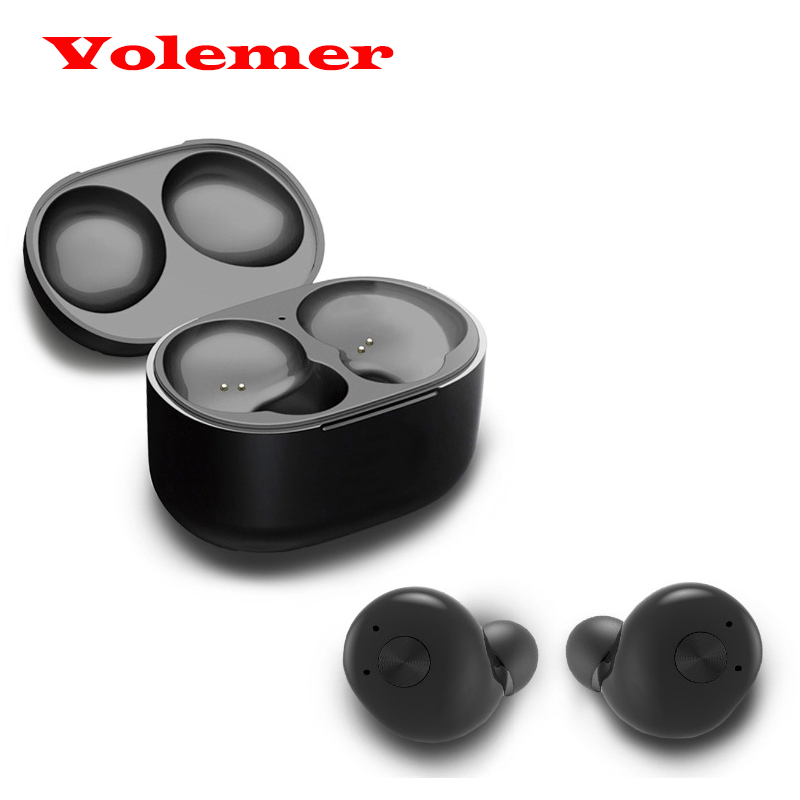 Volemer Original IP010 Twins True Wireless Bluetooth Earphone with Mic In-Ear Mini CRS 4.2 Bluetooth Earbuds with Charging Box original senfer dt2 ie800 dynamic with 2ba hybrid drive in ear earphone ceramic hifi earphone earbuds with mmcx interface