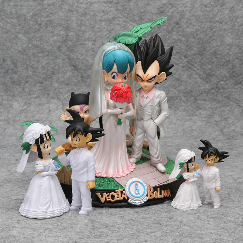 Anime dragonball Dragon Ball Z Vegeta & Bulma Dia Do Casamento chichi Figura Modelo Brinquedos brinquedos Figura Do Casamento Collectibele bolma