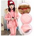 Moda Inverno Crianças Outfits Treino Roupas Meninas Hoodies Crianças + Casaco + Calça 3 pcs Esporte Terno Roupas Da Moda Meninas conjuntos