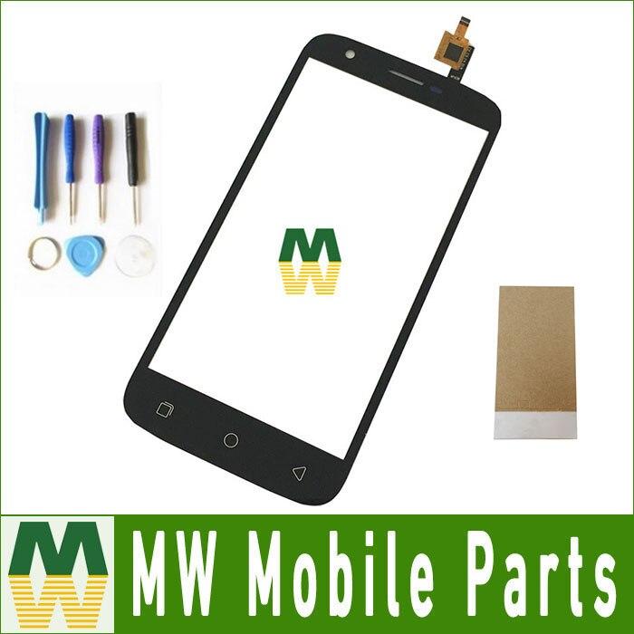 1 Pc/lote U007 Cor Preta Para UleFone Toque Digitador Da Tela de Toque Parte Substituição Com Ferramentas Com Fita