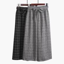 2018 11 11 New Fashion Ankle-Length Wide Leg Pants Women Elegant Trousers Linen Pants Baggy Women Pants Free Shipping Summer