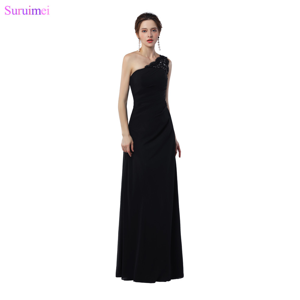 Simple Black Evening Gown Promotion-Shop for Promotional Simple ...