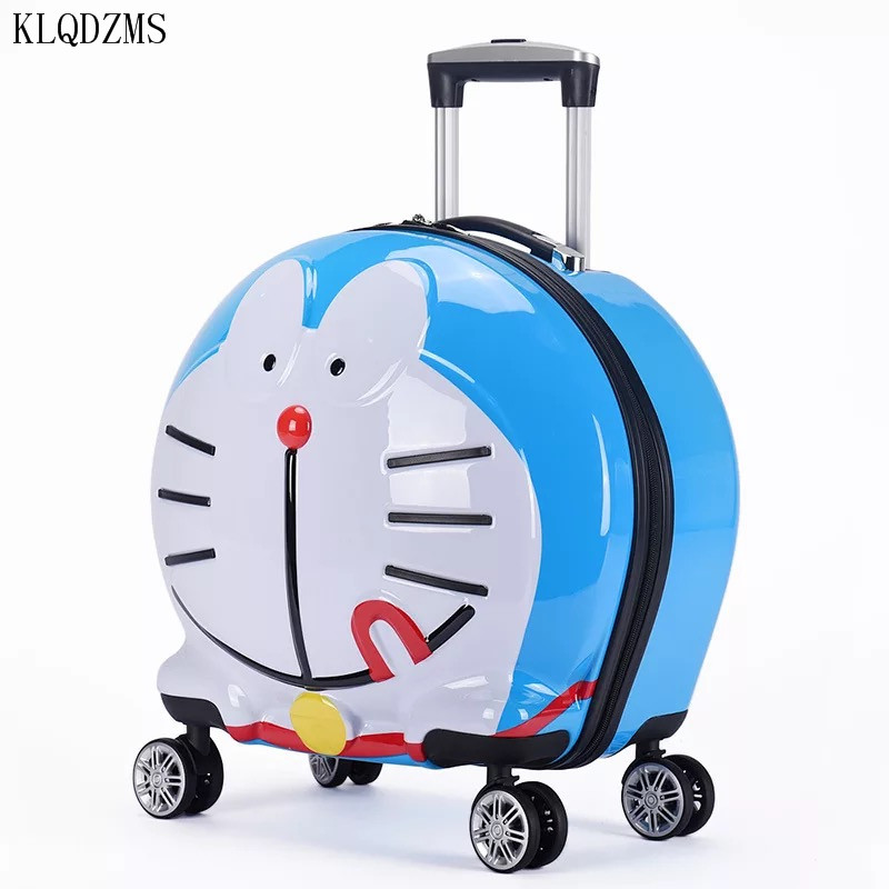 KLQDZMS 20Inch Cartoon Tinker Cat Kids Rolling Luggage Travel Suitcase Spinner ABS+PC Carry-Ons  Boarding Box For  Children
