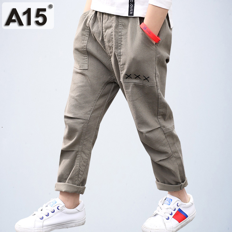 Boys Pants Trousers Sport Joggers Casual Cotton Teenage Sweatpants for Boy Big Kids Cargo Toddler School Clothes 8 9 11 13 Years