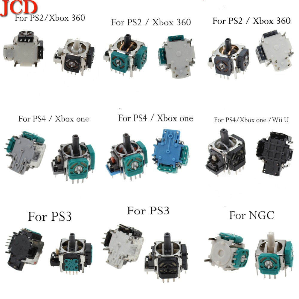 JCD   Right / Left 3D Analog Stick Joystick Sensor For Playstation 4 Pro PS4 PS2 PS3 Pro Controller Dualshock 4