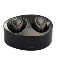 Mini Twins Dual Stereo Bluetooth Earphones BT 4.1+EDR Headset Wireless Handsfree Earbuds with Mic and Charging Box for iPhone