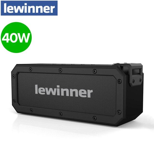 Lewinner X3 haut parleur Bluetooth IPX7 étanche Portable sans fil haut parleur 40W haut parleurs 15H Playtime avec caisson de basses supplémentaire