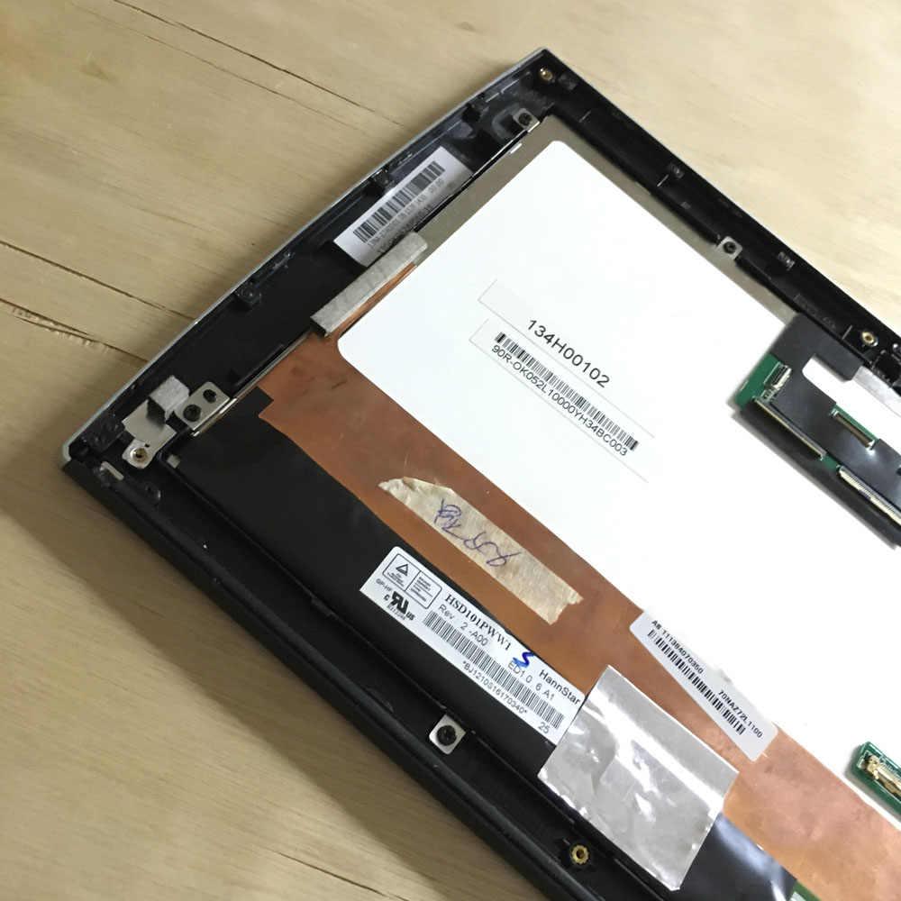 10.1 Pollici Utilizzato Non Completo Nuovo per Asus Eee Pad SL101 Tablet Pc Display Lcd Digitizer Touch Screen Del Pannello di Vetro montaggio con Telaio