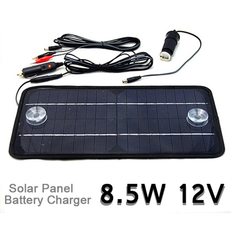 High Quality 12V 8.5W Multi-Purpose Solar Panel Charger Battery Monocrystalline Cell Phone Car Hot Selling