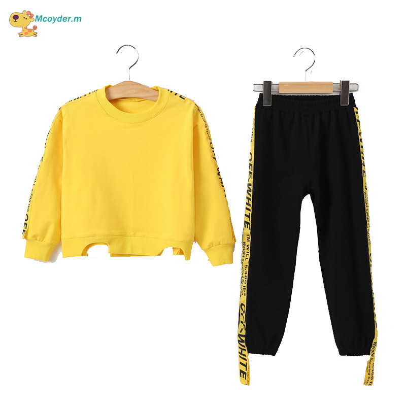 2017 Autumn Girls Clothing Set Long Sleeve Sports Suit For girl Kids Clothes Sets Cotton Tracksuit for Girls Clothes New Costume girls suit 2017 autumn children s clothing smile pattern sports set big kids girl bat long sleeve 2 pcs sets black pink clothes