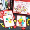 Woodentoys Puzzle Tangram Figur Spiele Pädagogisches Geometrische Clevere Elternschaft Bedienung Baby Frühes Lernen Spielzeug