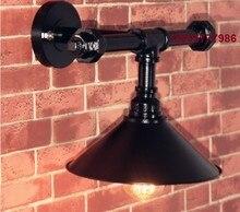 60 W Edison lámpara de Pared negro de la tubería Fxitures en Loft Industrial Vinage luz de la Pared luminaria Apliques Pared