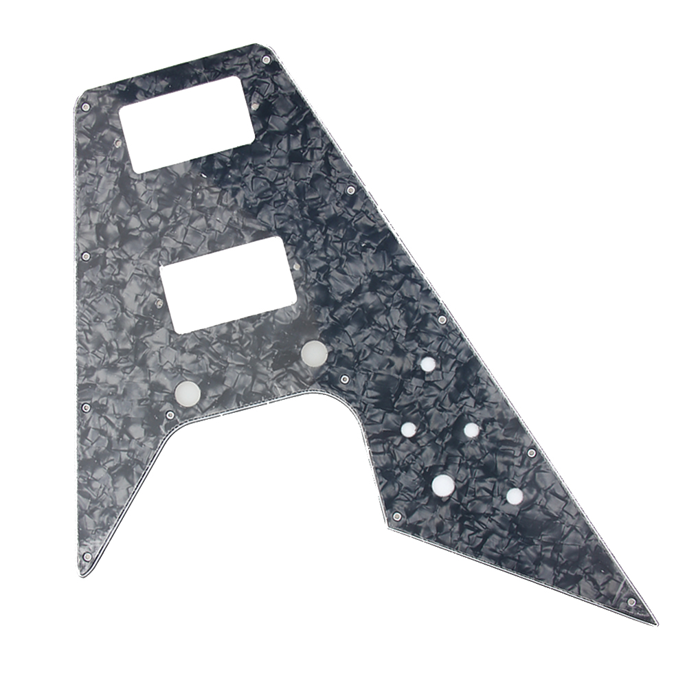 Replacement Pickguard For '67 Reissue Series Gibson Flying V - BLACK PEARL