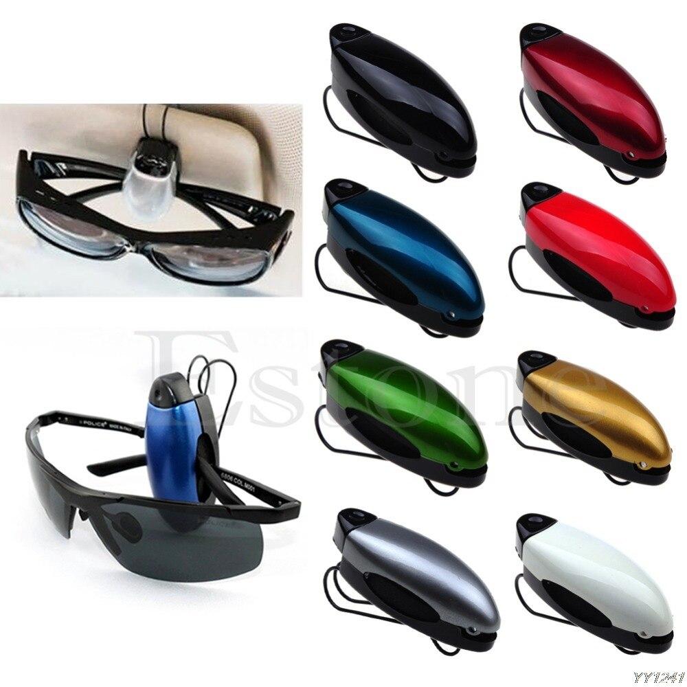 Lunettes de soleil Lunettes Voiture Visière Support Clip lunettes différentes couleurs Nouveau
