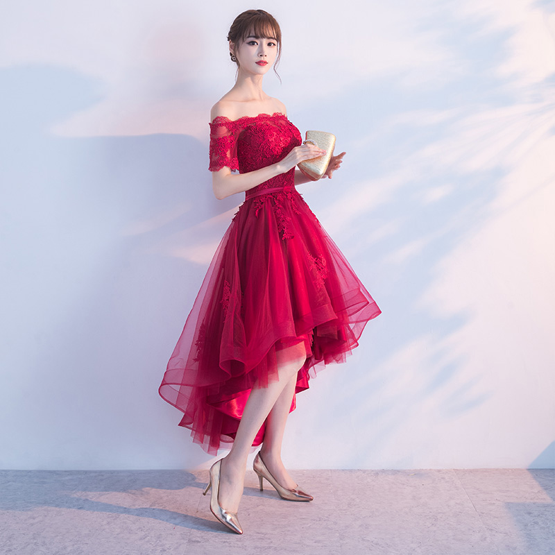 PotN'Patio Μικρά Καπέλα Μανίκια Off Ρούχα Prom - Ειδικές φορέματα περίπτωσης - Φωτογραφία 3