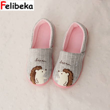 Nuovo Animale Sveglio Hedgehog Pantofole A Casa Delle Donne Scarpe  Pavimenti Interni Per La Camera Da 683039a76e1