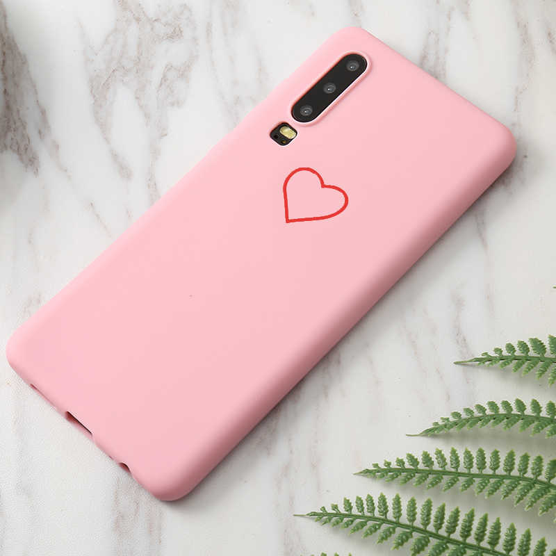 Cute 3D Silicone Love Heart Pink Black Case For Huawei Honor 8X 7A 7C 7A Pro P smart 2018 Enjoy 7S 5S Mate 8 Cover Coque Fundas