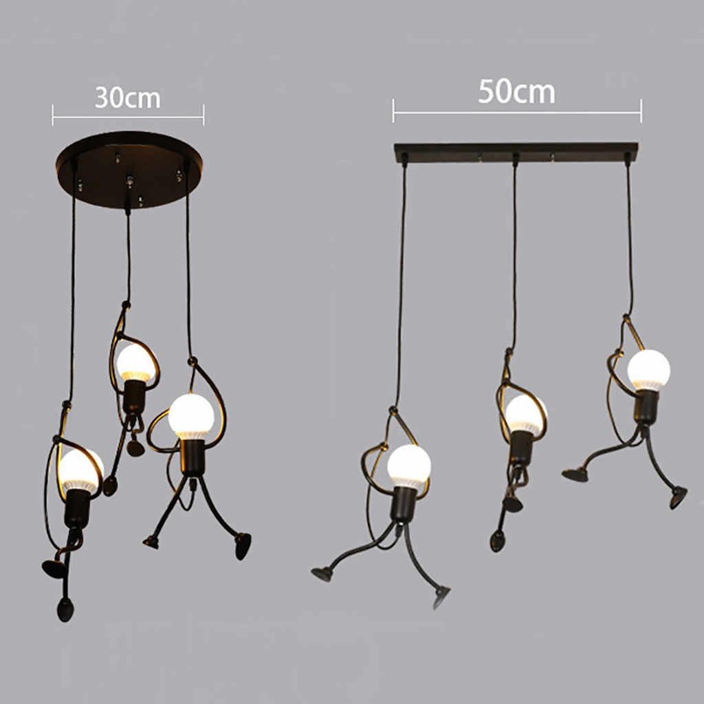 Moderne Charming Hangen Kreative Eisen Menschen Lampe Elegante Aufhanger Anhanger Licht Led Kuche Wohnzimmer Lampe Leuchten Pendelleuchten Aliexpress