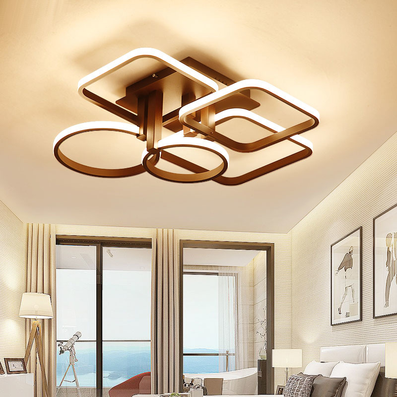 New Modern Led ceiling Chandelier lights white/Brown color For Living Dining Bedroom modern chandelier lighting lampadario led