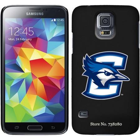 Creighton Samsung Galaxy S5 Cases With C Bluejay Sketchy Chevron Wordmark Dark Design