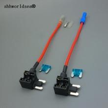 купить shhworldsea 1set 12V Fuse Holder Add A  Circuit TAP Adapter Micro ATM APM Auto дешево