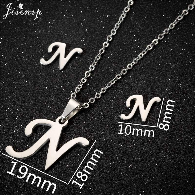 Jisensp Personalized A-Z Letter Alphabet Pendant Necklace Gold Chain Initial Necklaces Charms for Women Jewelry Dropshipping 28