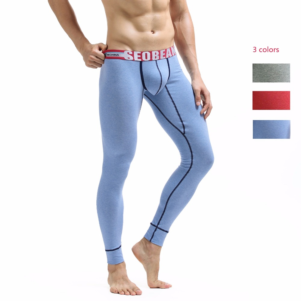 New Men's Long Johns Separate Thick Tight Themal Underwear Autumn And Winter Legging Long Johns 3 Colors