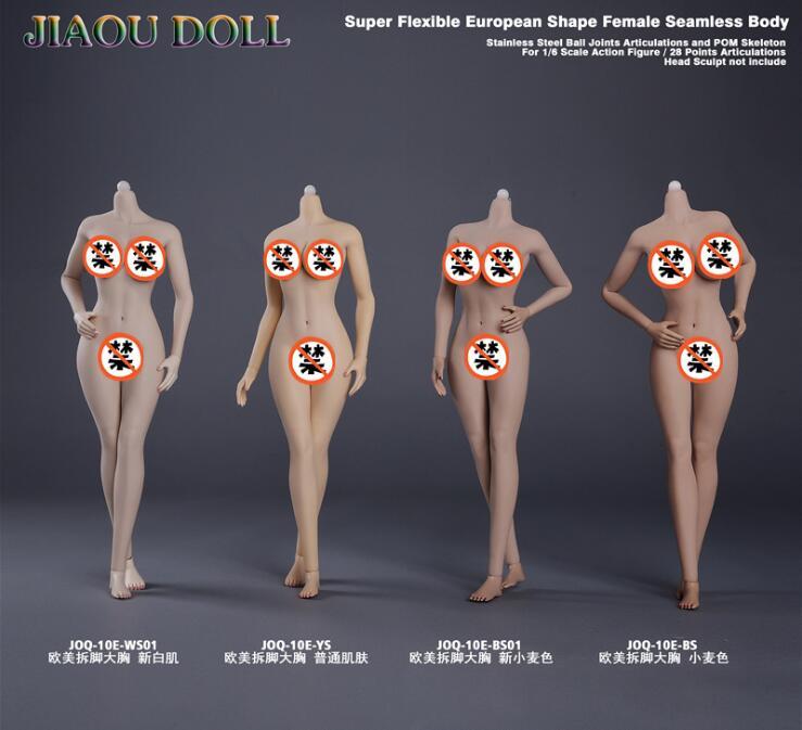 kabuki JIAOU DOLL 3 0 1 6 Scale Figure Super Flexible European Shape Big bust Female