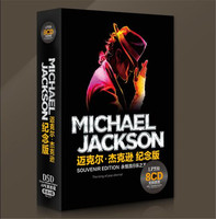 Free Shipping Michael Jackson Souvenir Edition Classic Music Car 8CD Sealed