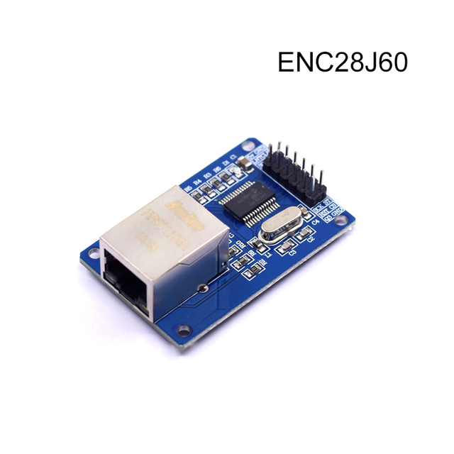 free shipping ENC28J60 LAN Ethernet Network Board Module for arduino 25MHZ Crystal AVR 51 LPC STM32 3.3V