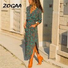 2019 Summer Long Dress Women Casual Striped Print Shirt Dress Lady Sexy V-Neck Elegant Beach Party Dress With Pockets Vestidos цена