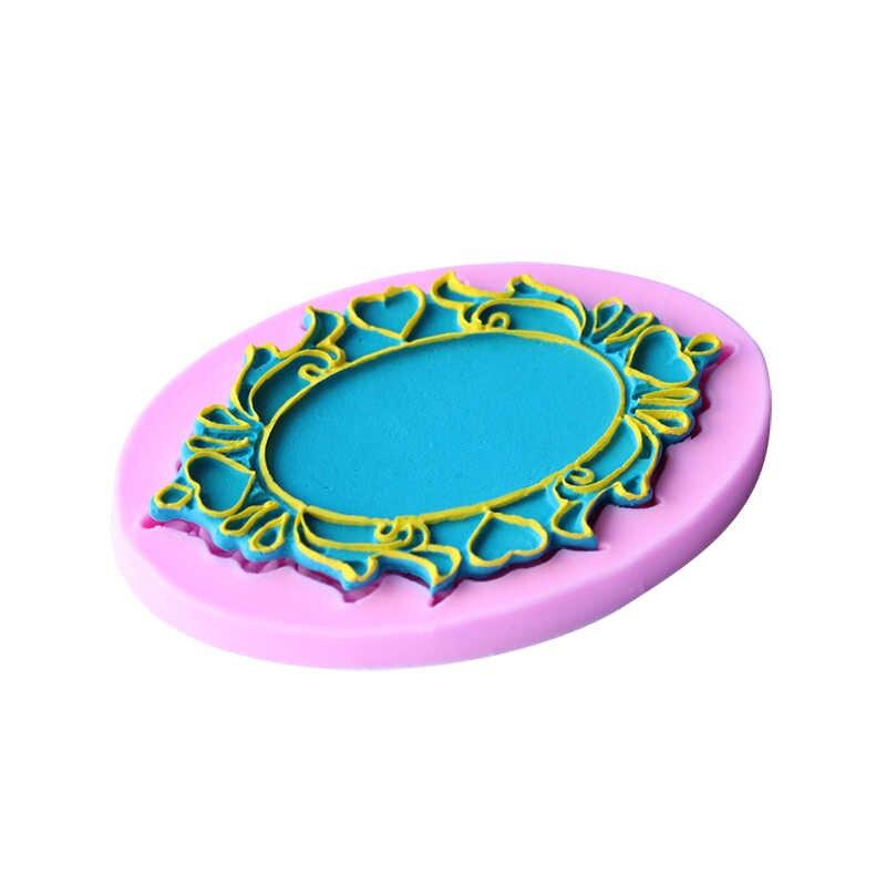 ثلاثية الأبعاد إطار غرامة قالب من السيليكون شكل الصورة أدوات تزيين الكعكة الشوكولاته اكسسوارات المطبخ الخبز