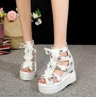 2019 г., обувь женские босоножки новые летние модные босоножки на платформе повседневная женская обувь на толстой подошве, на танкетке, на мол...