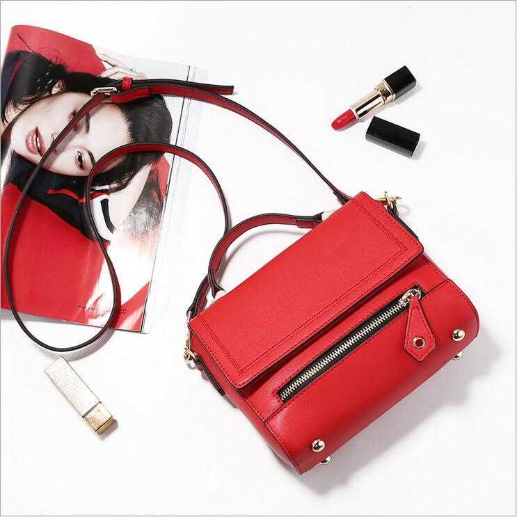 ФОТО new 2017 style stamp one shoulder bags women handbag women genuine leather handbags women messenger bags free shipping