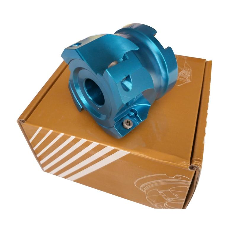 Купить с кэшбэком light weight 90 degrees 50mm 63mm +10PCS  APKT1604 right angle aluminum alloy bap face mill surface milling cutter disk