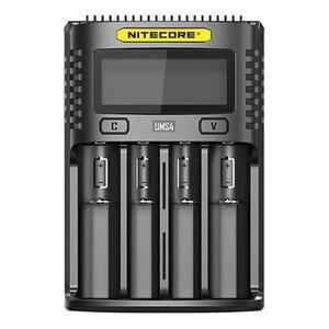 Image 2 - Oryginalny NITECORE UMS2 UMS4 inteligentna ładowarka baterii wyjście USB 3A dla LiFePO4 litowo jonowych Ni MH NiCd 10440 10440 10500 18650