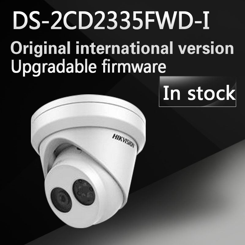 in stock DHL free shipping english version DS-2CD2335FWD-I 3 MP Ultra-Low Light Network Turret Camera