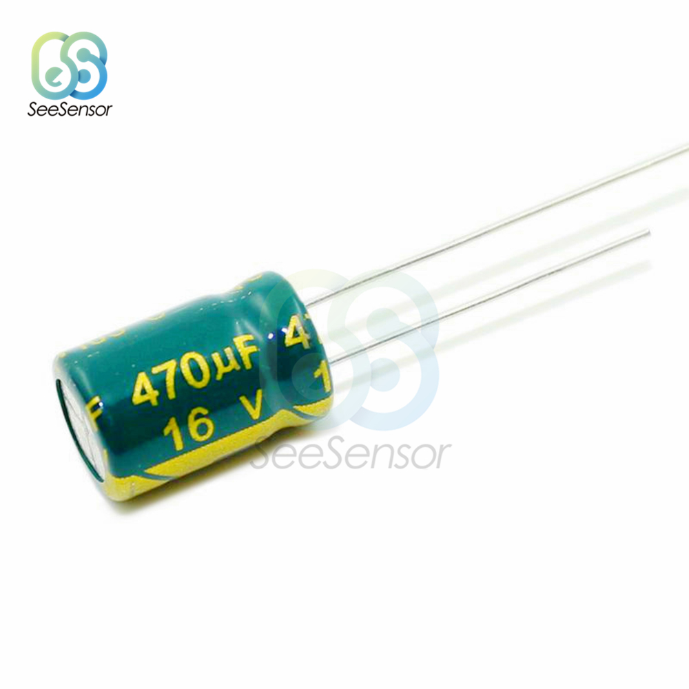 50pcs High Frequency LOW ESR Aluminum Electrolytic Capacitor 16V 470uF 8x12mm