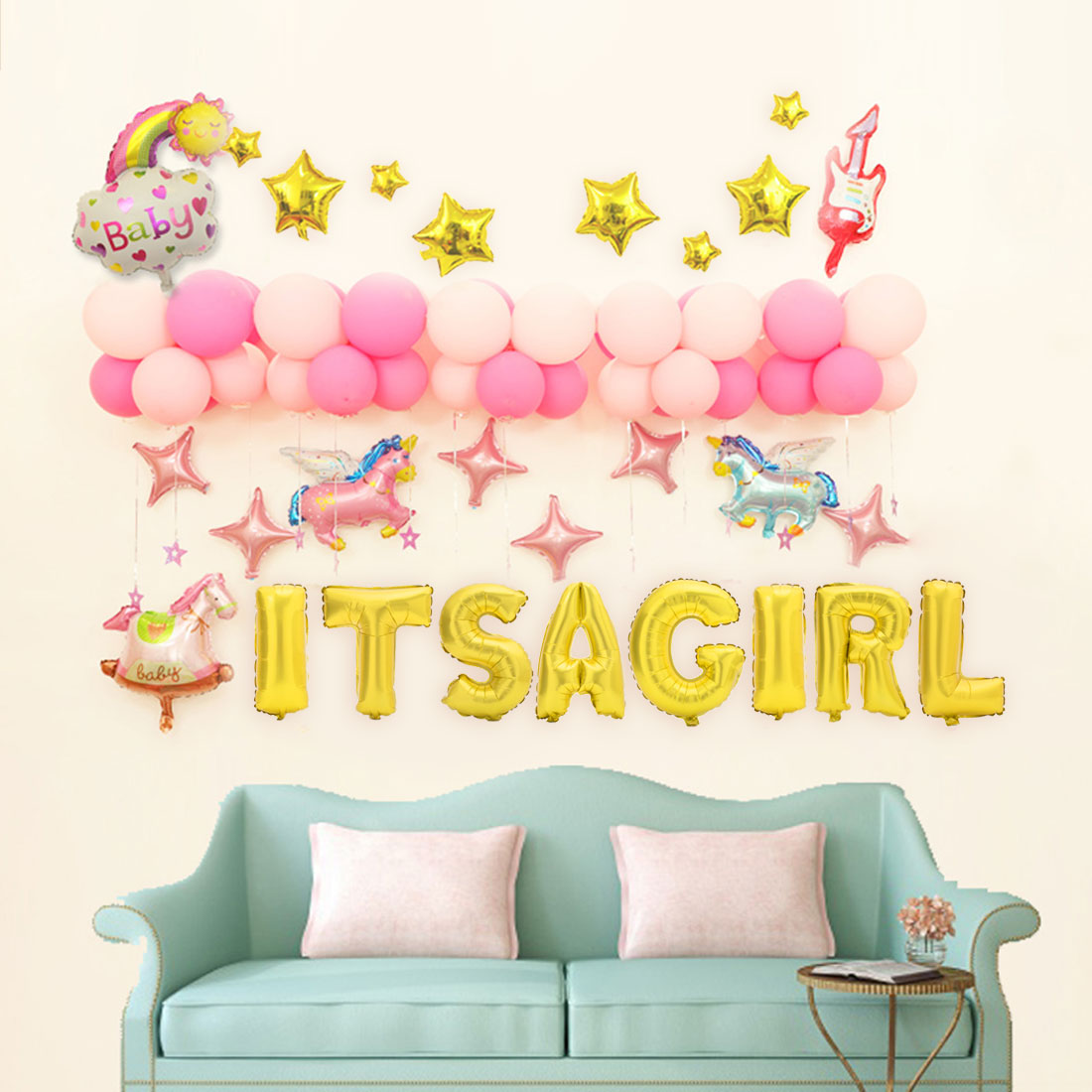 Beautiful Balloon Wall Decorations Pictures Inspiration - The Wall ...