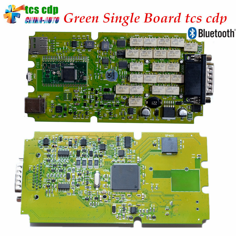 Best Quality Latest 2016/2015 with Keygen Single Green PCB board TCS CDP Pro with Bluetooth cars&Trucks Diagnostic Scanner