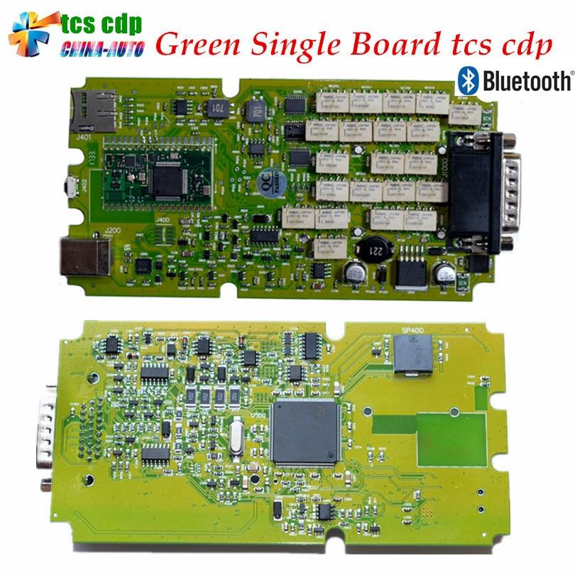 Meilleure Qualité Dernière 2015.1/2014.2 avec Keygen Unique Vert PCB conseil TCS CDP Pro avec Bluetooth voitures et Camions de diagnostic Scanner