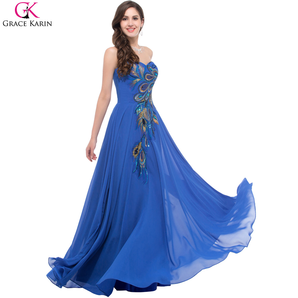Peacock Color Bridesmaid Dress   www.imgkid.com - The ...