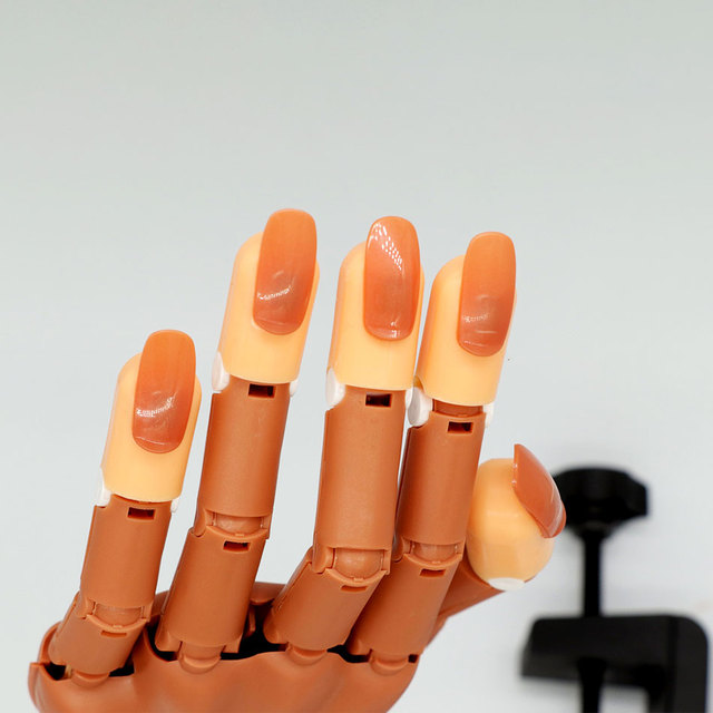 Professional 1 Practice Hand+100pcs Nail Tips Nail Art Hands Tool Adjustable Nail Art Model Hands DIY Manicure Tool For training
