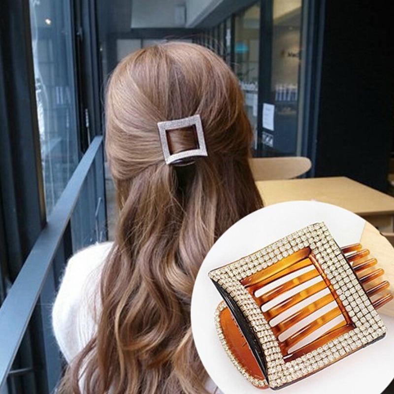 2018 Luxus Haarschmuck Bräute Kopf Krallen Haarband Haar Kämme Claws Mit Strass Klaue Maker Brötchen Hairgrip Haarnadeln Direktverkaufspreis