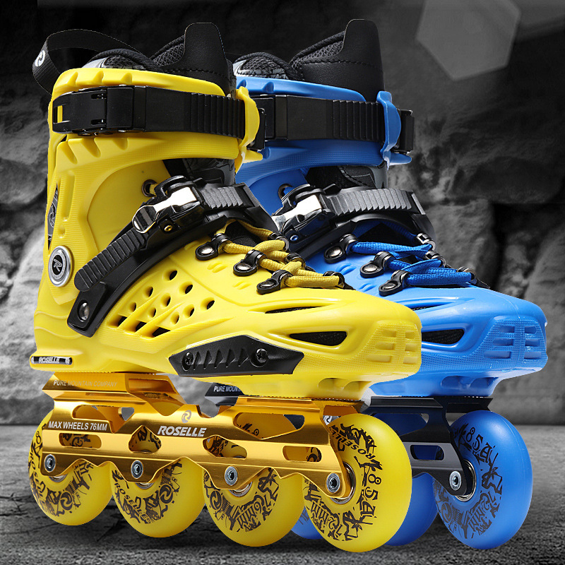 NEW Cool Inline Professional Adult Women Men Slalom Slide Ice Skating Skate Shoes Adjustable Washable PU Wheels Adulto 3 Colors inline professional women adult slalom sliding ice skates skating shoes adjustable washable 85a flash pu wheels panties adulto