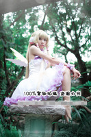 Chobits Eruda White Wedding Women Cos Anime Cosplay Costum Full Set
